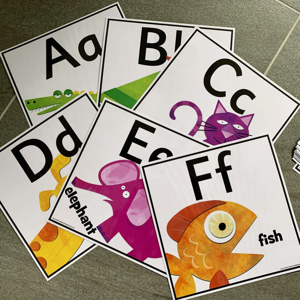 Arty Alphabet Cards:Primary Classroom Resources