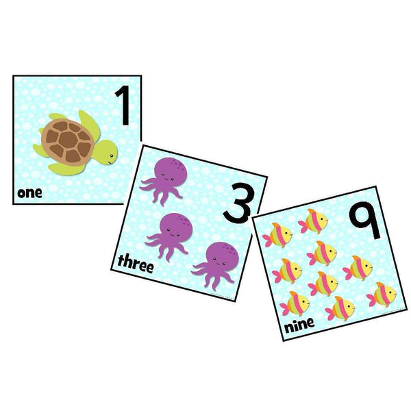 Arty Ocean Number Cards