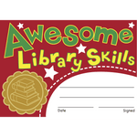 Awesome Library Skills Reward Certificates:Primary Classroom Resources