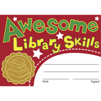 Awesome Library Skills Reward Certificates