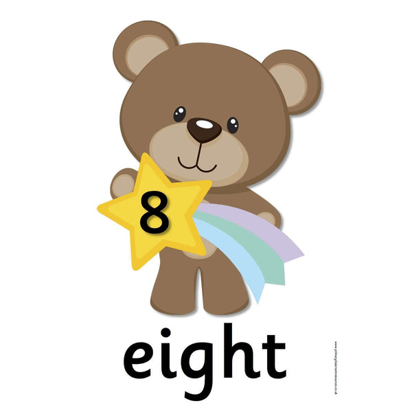 Bear Number Cards 0 - 10:Primary Classroom Resources