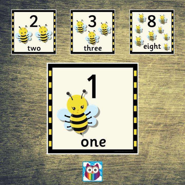 Bee Themed Number Cards