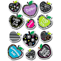 Black and White Collection Apples Classroom Reward Stickers:Primary Classroom Resources