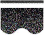 Black Sparkle Scalloped Display Border:Primary Classroom Resources