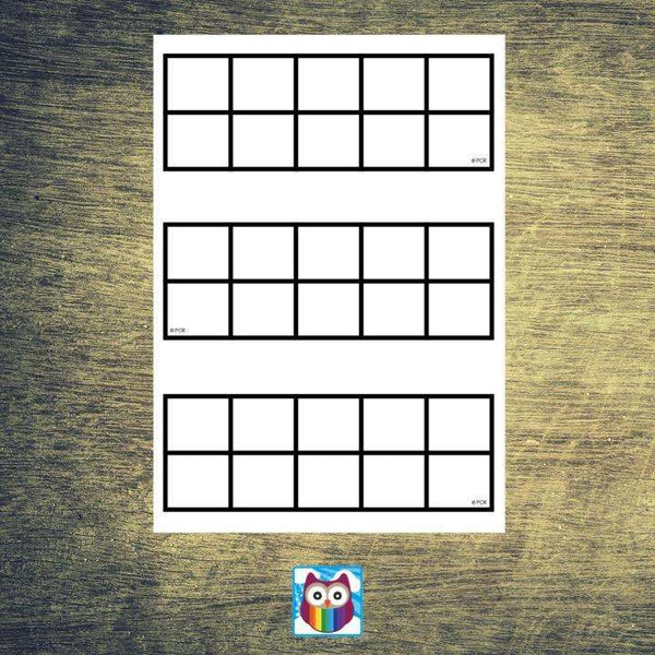 Blank Ten Frames to 10:Primary Classroom Resources