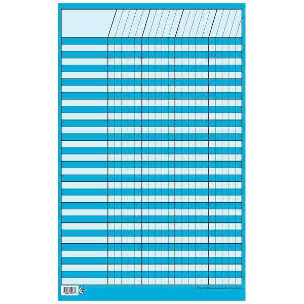 Blue Small Vertical Incentive Chart Poster