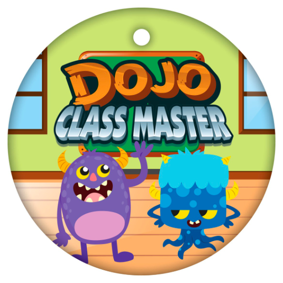 BragTag - Circular - Dojo Class Master - Pack of 10:Primary Classroom Resources