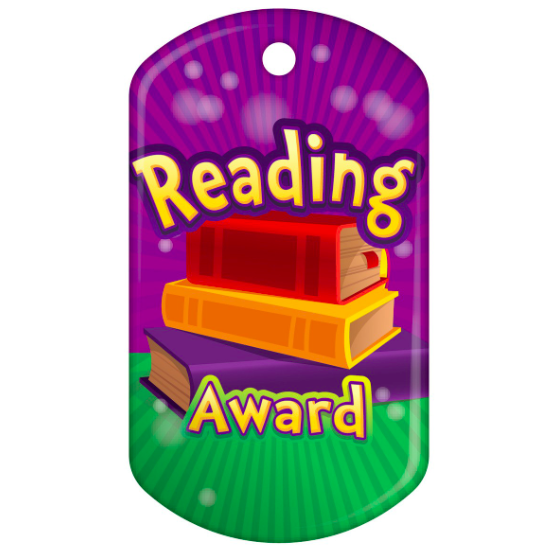BragTag - Classic - Reading Award - Pack of 10:Primary Classroom Resources