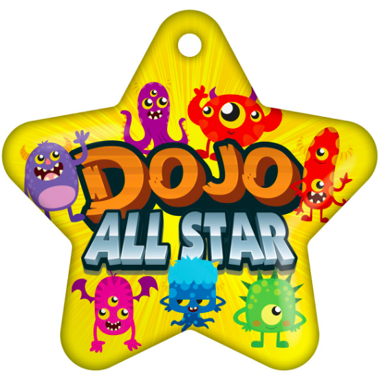 BragTag - Star - Dojo All Star - Pack of 10:Primary Classroom Resources