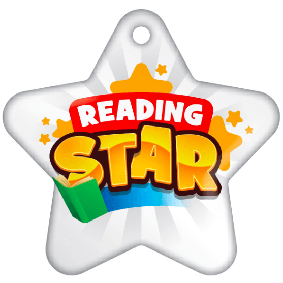 BragTag - Star - Reading Star (White) - Pack of 10:Primary Classroom Resources