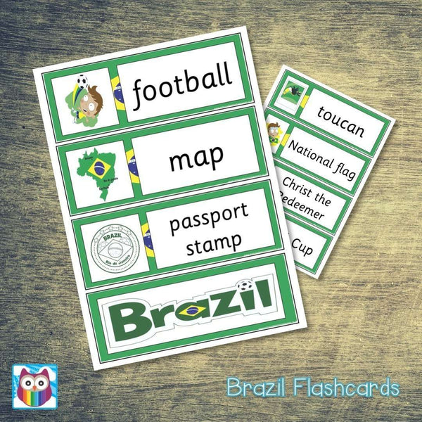 Brazil Flashcards:Primary Classroom Resources