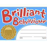 Brilliant Behaviour Reward Certificates:Primary Classroom Resources
