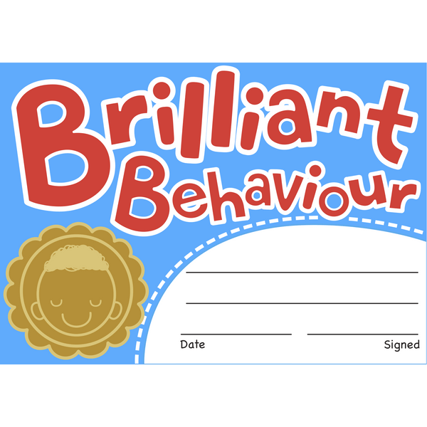 Brilliant Behaviour Reward Certificates