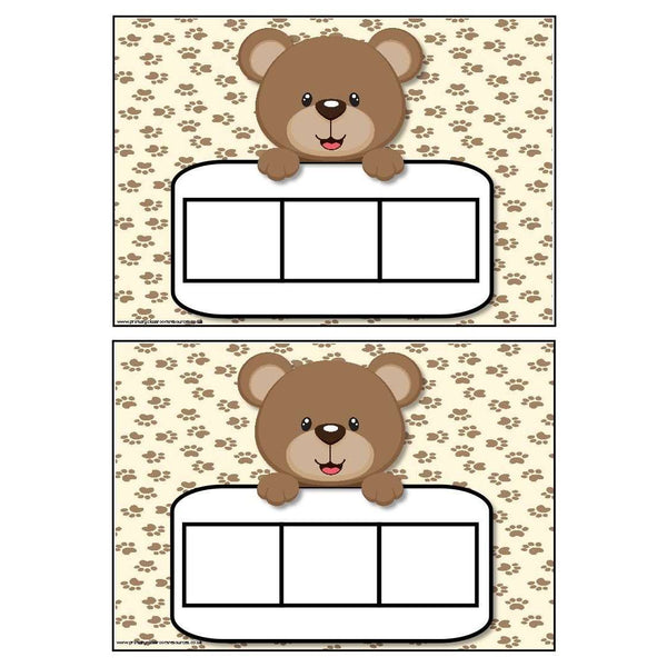 Brown Bear Themed Phoneme Frames