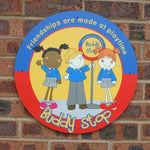 Buddy Stop Wall Sign