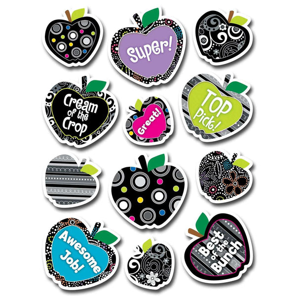 BW Collection Apples Stickers:Primary Classroom Resources