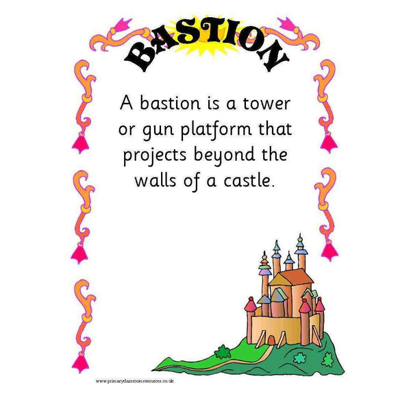 Castles Glossary Posters:Primary Classroom Resources