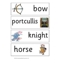 Castles Key Vocabulary Flashcards