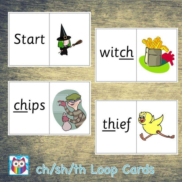 ch th sh Loop Cards:Primary Classroom Resources,Digital download