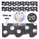 Chalk It Up! Dots on Chalkboard! White Dots Display Border:Primary Classroom Resources