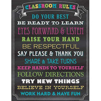 Chalkboard Brights Classroom Rules Poster:Primary Classroom Resources