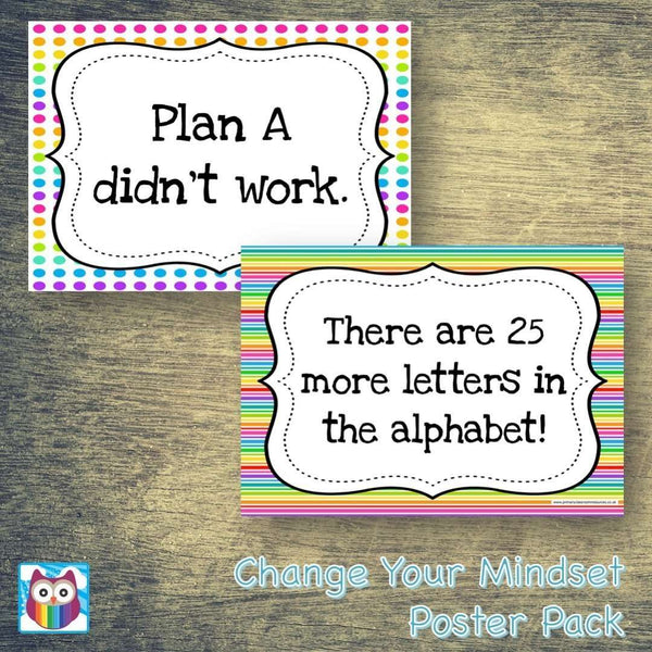 Change Your Mindset Poster Pack:Primary Classroom Resources