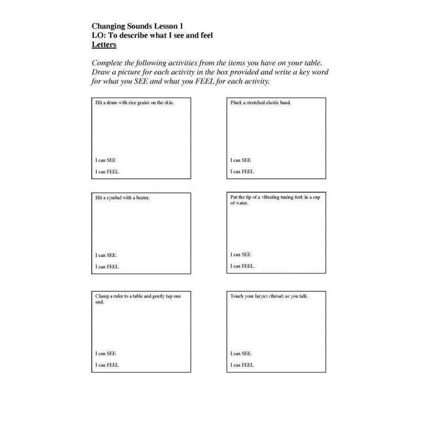Changing Sounds Worksheets