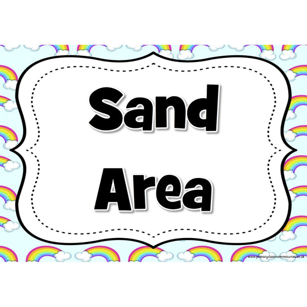 Classroom Area Signs - Rainbows Theme:Primary Classroom Resources