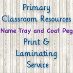 Classroom Name Tray and Peg Labels:Primary Classroom Resources