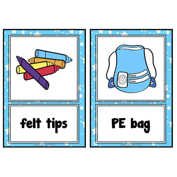 Classroom Objects Cards