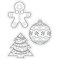 "Colour-Me Christmas Holiday 6"" Designer Cut Outs"