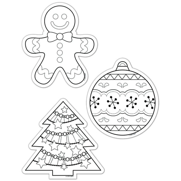 "Colour-Me Christmas Holiday 6"" Designer Cut Outs:Primary Classroom Resources"