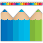 Coloured Pencils Display Border:Primary Classroom Resources