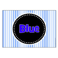Coloured Table/Group Signs - Striped Theme