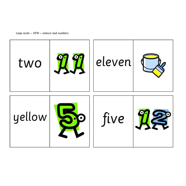 Colours and Numbers Loop Cards
