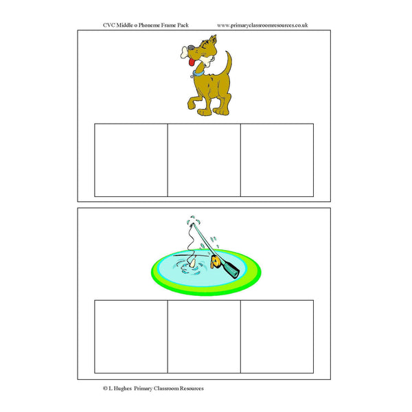 CVC Middle O Phoneme Frames:Primary Classroom Resources