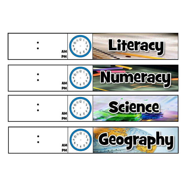 Daily Schedule Chart Cards - Visual Timetable:Primary Classroom Resources
