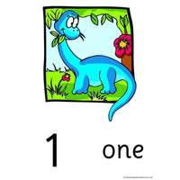 Dinosaur Numbers Posters 0 to 20
