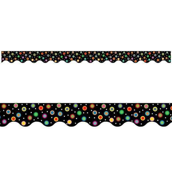 Dots on Black Display Border