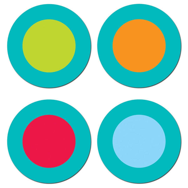 Dots on Turquoise Dots Hot Spots Chart Seal Stickers