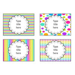 EDITABLE Classroom Supplies Labels - Mixed Rainbow Theme:Primary Classroom Resources