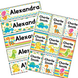 EDITABLE Name Tray & Coat Peg Labels Bundle:Primary Classroom Resources,Digital download / Colourful dinosaur