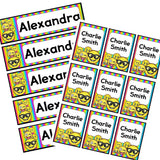 EDITABLE Name Tray & Coat Peg Labels Bundle:Primary Classroom Resources,Digital download / Emoji rainbow