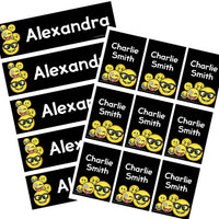 EDITABLE Name Tray & Coat Peg Labels Bundle:Primary Classroom Resources,Digital download / Emoji blackboard