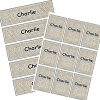EDITABLE Name Tray & Coat Peg Labels Bundle:Primary Classroom Resources,Digital download / Neutral
