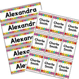 EDITABLE Name Tray & Coat Peg Labels Bundle:Primary Classroom Resources,Digital download / Rainbow pencils