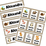 EDITABLE Name Tray & Coat Peg Labels Bundle:Primary Classroom Resources,Digital download / British wildlife
