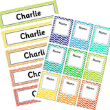 EDITABLE Name Tray & Coat Peg Labels Bundle:Primary Classroom Resources,Digital download / Chevron