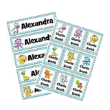 EDITABLE Name Tray & Coat Peg Labels Bundle:Primary Classroom Resources,Digital download / Rainbow animals