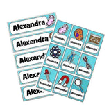 EDITABLE Name Tray & Coat Peg Labels Bundle:Primary Classroom Resources,Digital download / Science